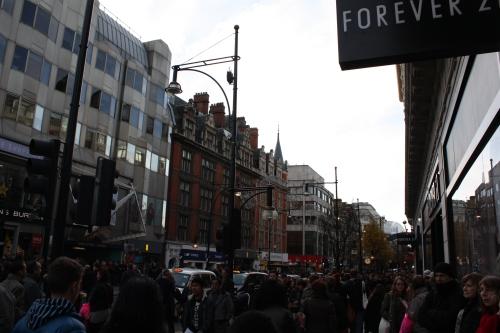 Oxford Street on a Saturday