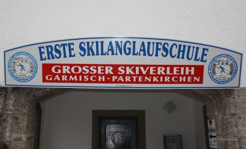 Ski School Sign