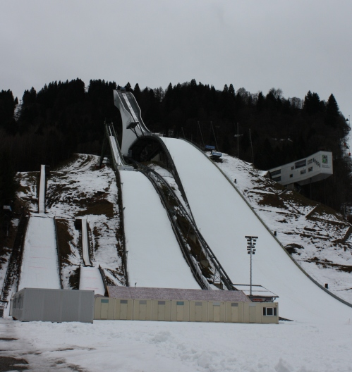 Three Ski Jumps in Garmisch-Partenkirchen
