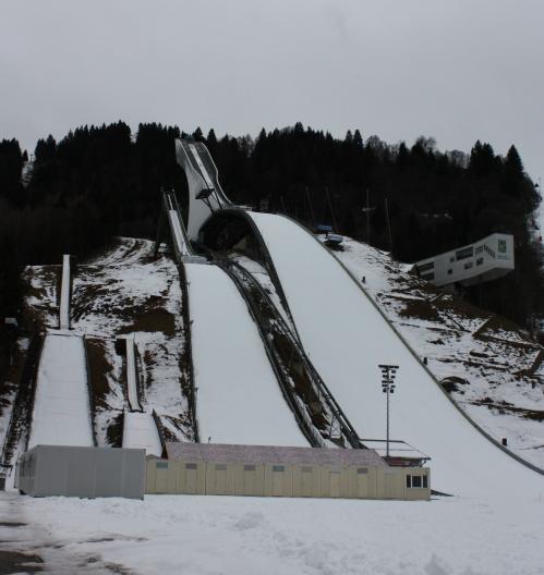 Three Ski Jumps in Garmisch-Partenkirchen
