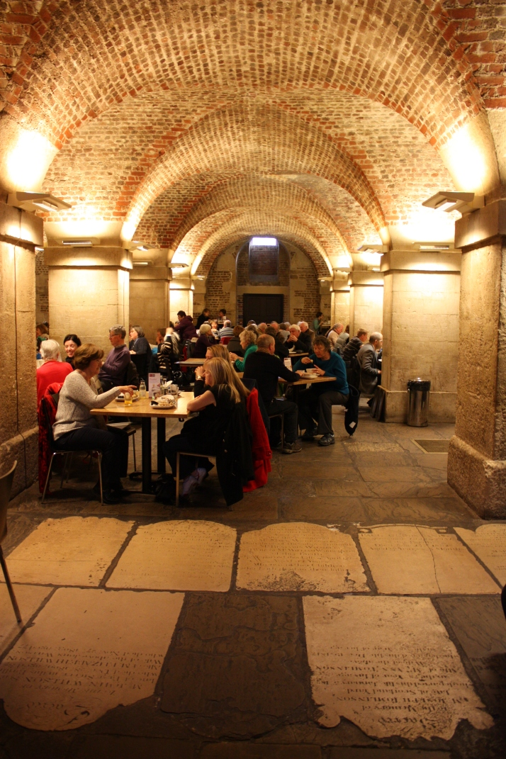 Inside the Crypt restaurant