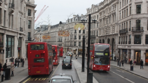 Regents Street ~ heading toward Piccadilly Circus