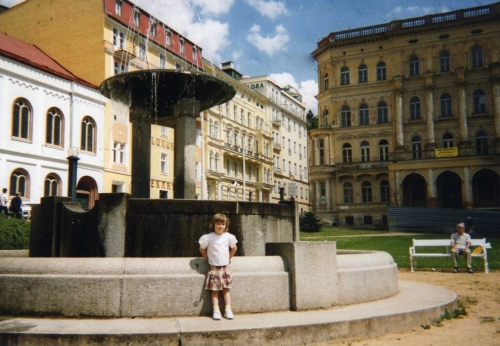 Logan at Fountain in Marienbad
