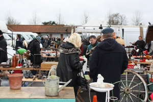 Some of the vendors at Sunbury Antiques Market
