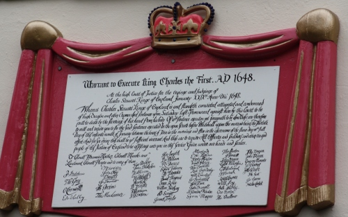 Warrant for the excecution of King Charles I