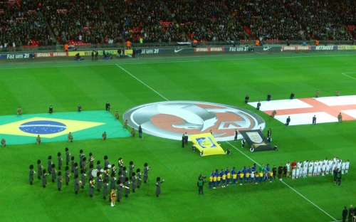 England v. Brazil ~ start of the match