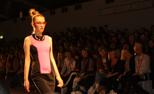 Graphic Art Pink and Balck Dress