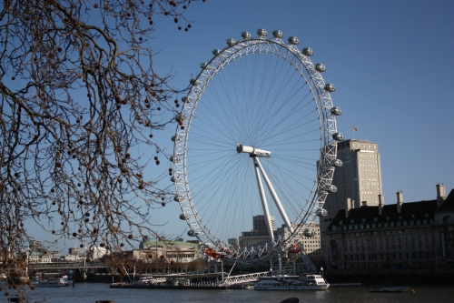 London Eye on a sunny London day