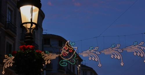 Malaga Carnaval decorations