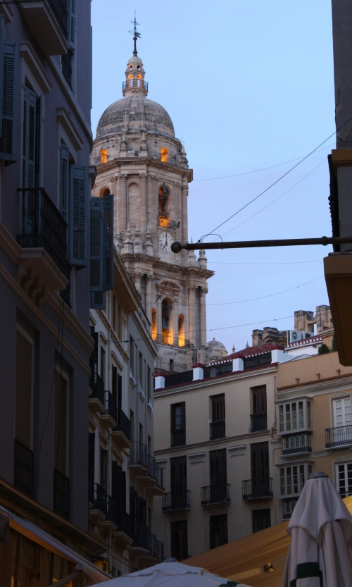 Glimpse of the Cathedral in Malaga
