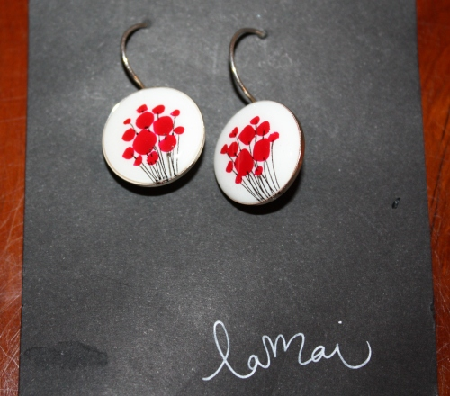 Poppy Earring from Malaga (local artist)