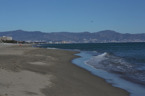 Torremolinos Beach ~ looking toward Malaga
