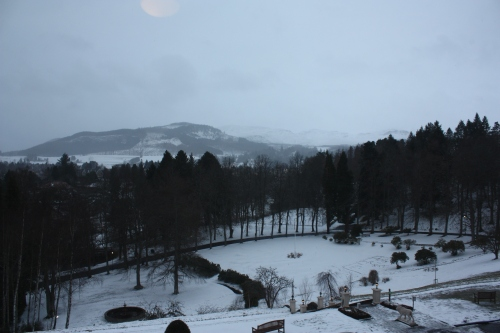 View from our room at Atholl Palace Hotel