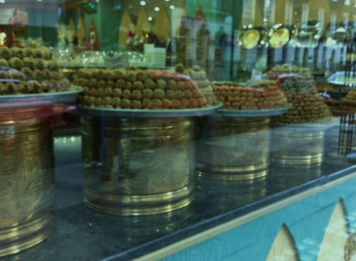 Baklava in the Market Window