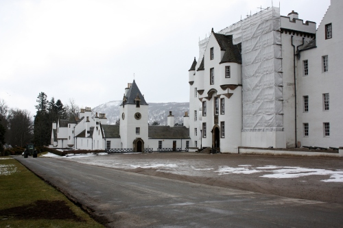 Blair Castle under restoration.