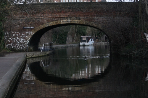 Bridge Arch Along the Canal