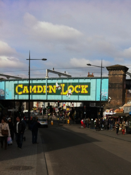 Camden Lock Road Sign