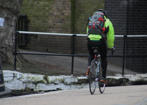 Cyclist Along the Canal