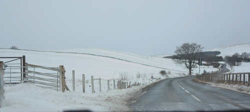 Snowy Drive to Pitlochry