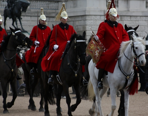 Horse Guard leaving for Hyde Park