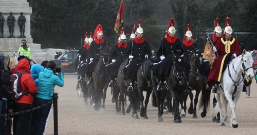 New Guards riding in from Hyde Park
