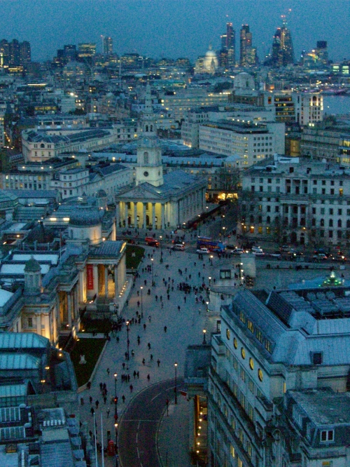 Overlooking Trafalgar Square at Dusk