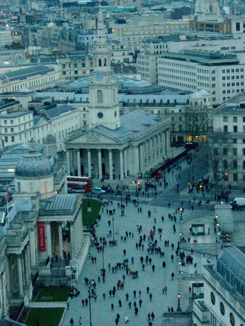 Overlooking Trafalgar Square