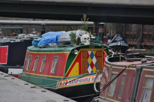 Skull on Canal Boat