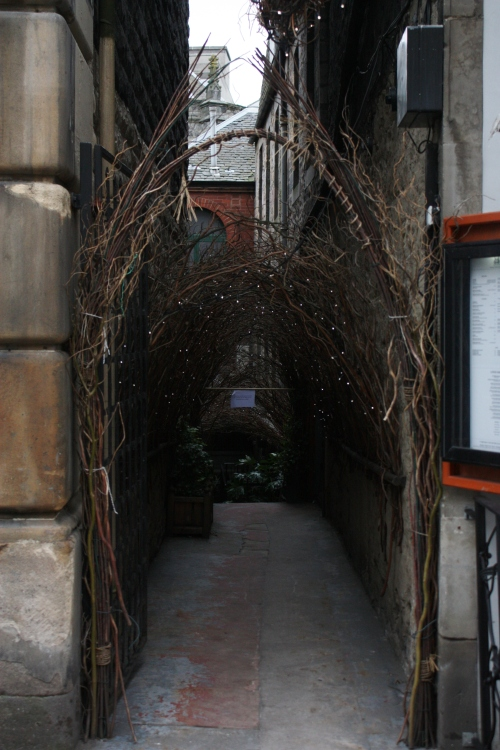 Passageway along the Royal Mile