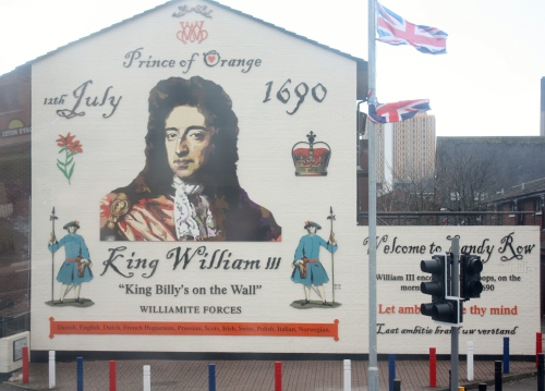 Political Mural showing how far back the tension goes in West Belfast