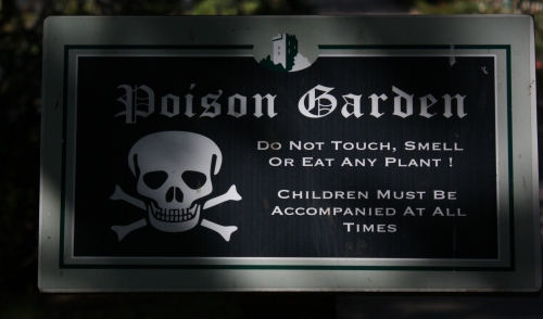 Poison Garden ~ with some serious poisons. Take heed ~ don't touch.