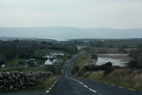 Narrow Road Driving to Doolin, County Clare