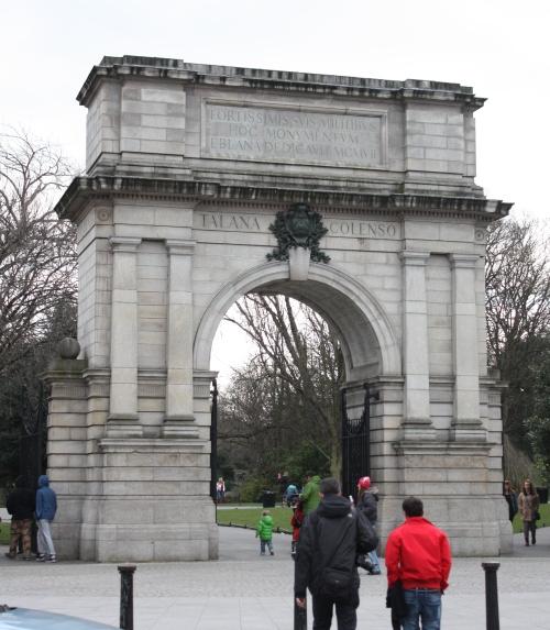 Fusillier's Arch into St Stephen's Green, Dublin