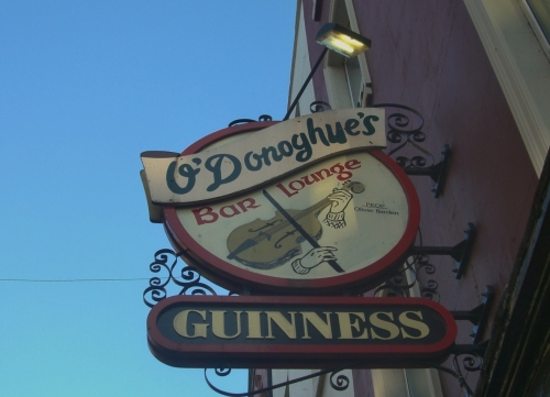 O'Donoghue's Bar sign, Dublin, Ireland