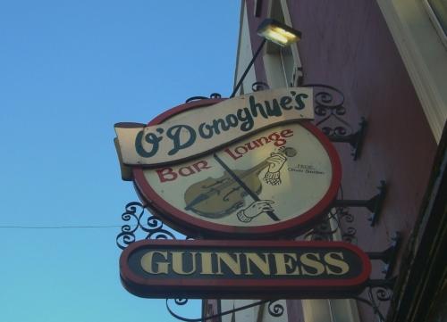 O'Donoghue's Bar sign, Dublin, Ireland
