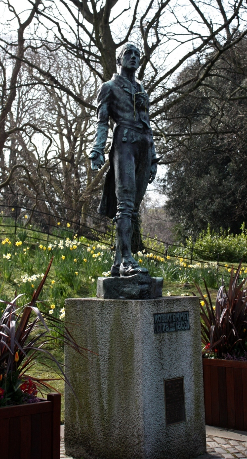 Robert Emmet (1778-1803) Statue in St Stephen's Green, Dublin Ireland