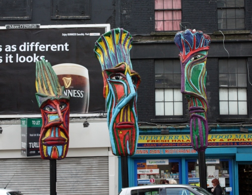 Tiki Heads (?) in Dublin, Ireland