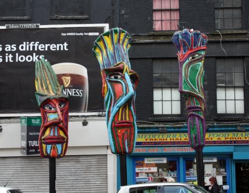 Tiki Heads (?) in Dublin, Ireland