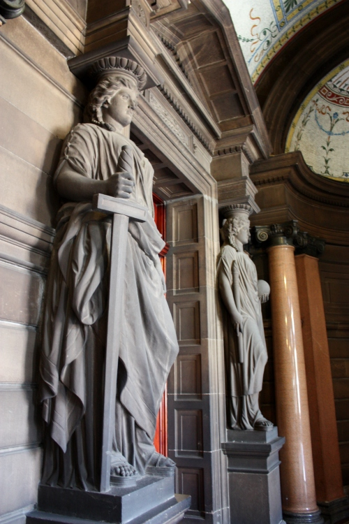 Guard Statues in City Hall, Glasgow