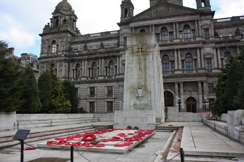 """WW I & II Memorial """"Pro Patria"""" Glasgow CIty Hall"""