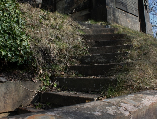 Stairs leading to the higher graves, Glasgow Cathedral