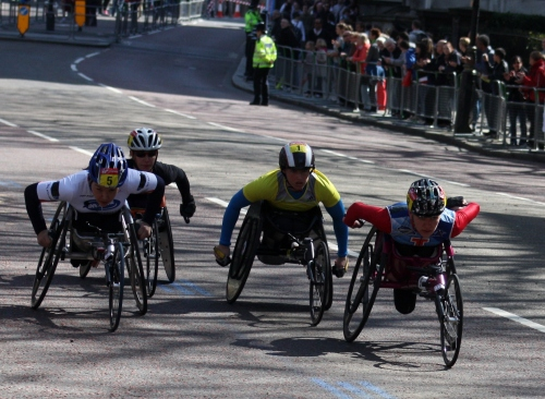Wheelchair Participants in the London Marathon 2013