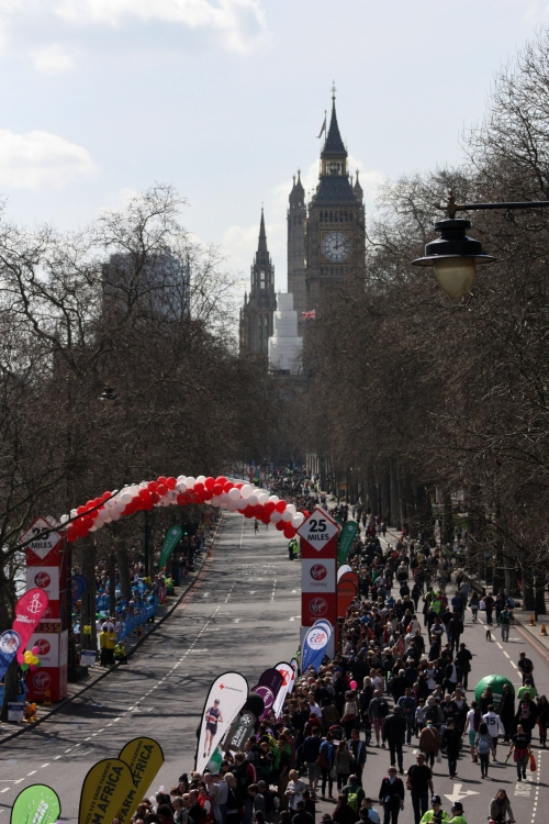 Along the London Marathon Route