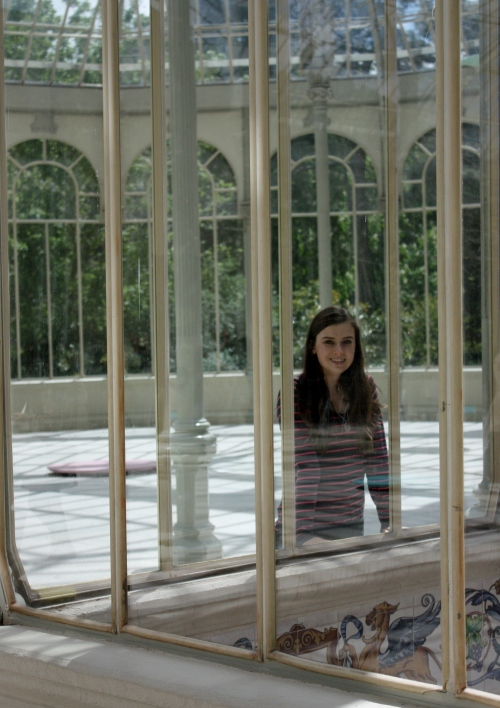 Logan in the Palacio de Cristal, Parque del Buen Retiro, Madrid