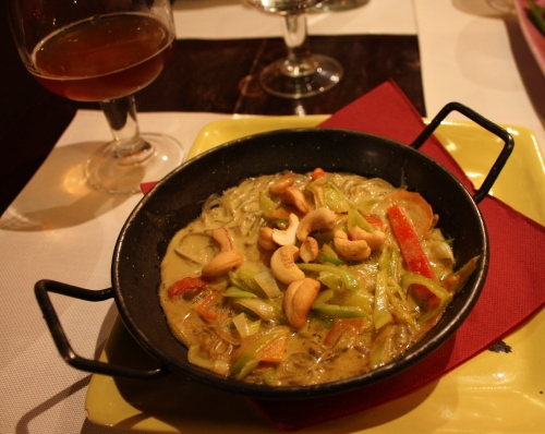Spicy Noodle dish at Isla del Tesoro