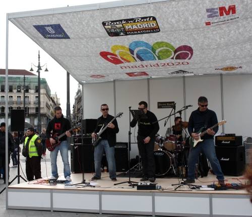 Fun Band at the 18K, Madrid Marathon