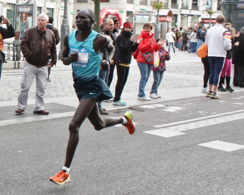 One of the Elite men, Madrid Marathon