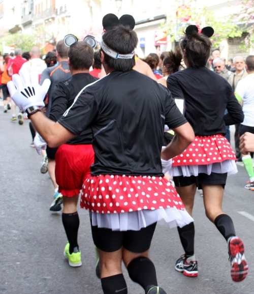Back of Two Minnies and a Mickey, Madrid Marathon 2013
