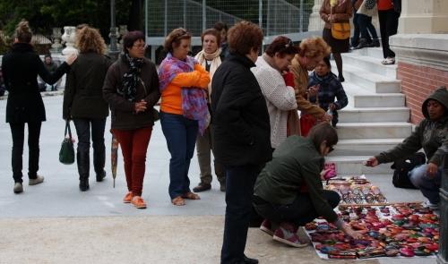 Park Vendor outside Palacio de Cristal, Parque del Buen Retiro, Madrid