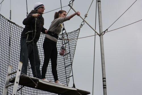 "London: Gorilla Circus ""Flying Trapeze School"""